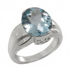 Silver Blue Topaz Ring 4089//R ~ FREE SHIPPING ~