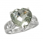 Green Amethyst Ring 4086/R ~ FREE SHIPPING ~