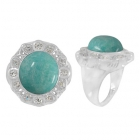 Amazonite Ring 4994/WCZ/R ~ FREE SHIPPING ~