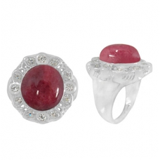 Rhodonite Ring 4994/WCZ/R ~ FREE SHIPPING ~