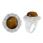 Tigers Eye Ring 4994/WCZ/R ~ FREE SHIPPING ~