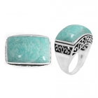 Amazonite Ring 5085/OXI ~ FREE SHIPPING ~