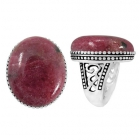 Rhodonite Ring 5121/OXI ~ FREE SHIPPING ~