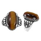 Tigers Eye Ring 5215/OXI ~ FREE SHIPPING ~