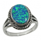 opal rings RB0728/OP ~ FREE SHIPPING ~