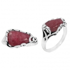Rhodonite Ring 3344/OXI ~ FREE SHIPPING ~